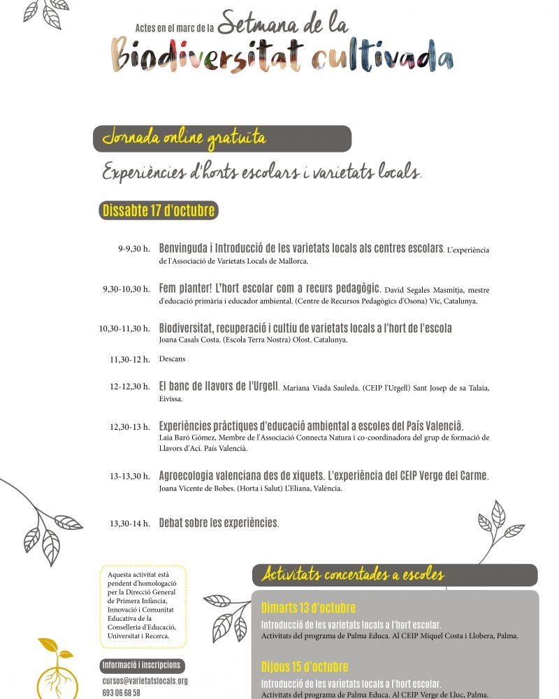 Setmana de la Biodiversitat cultivada 2020 AVL2