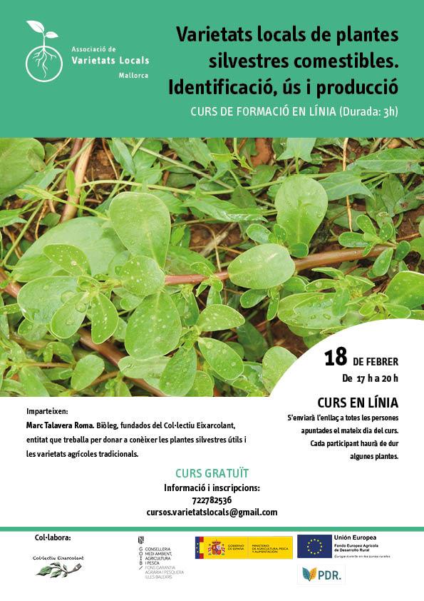 Varietats locals de plantes silvestres comestibles, identificació, usos i reproducció