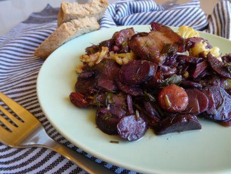 Recepta de setembre: pastanagues o frit de pastanaga morada